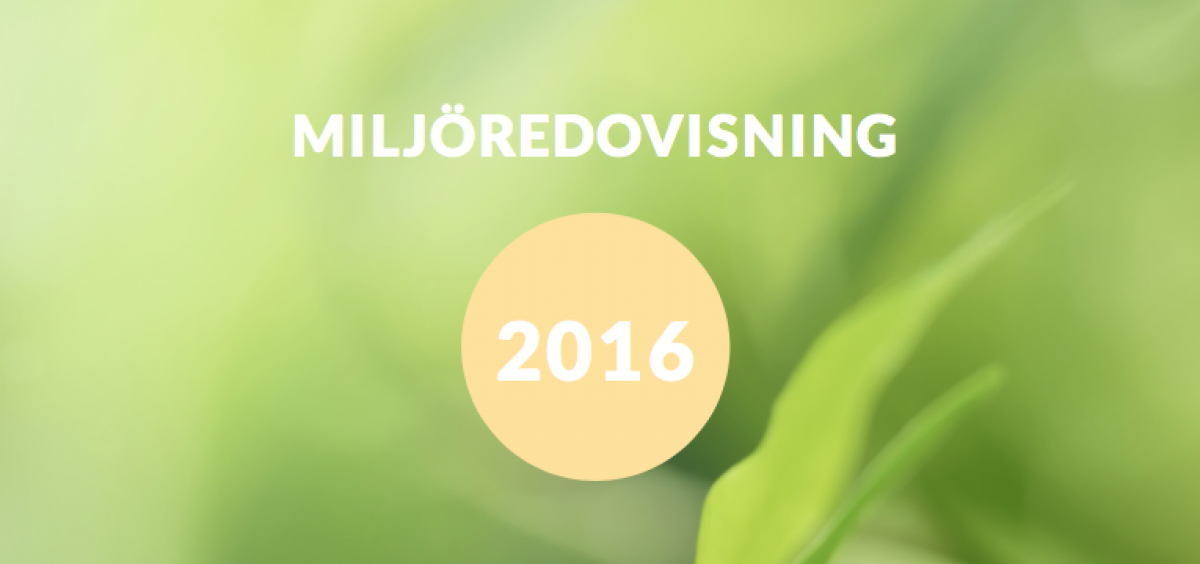 Miljöredovisning 2016